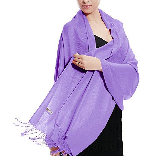Pashmina Wedding Large Soft Plain Shawl/Wrap/Scarf for Women (Lavender) ()