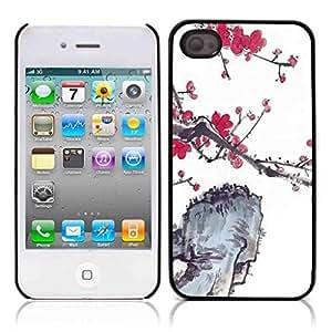 Sun Flower Flowering Rose Hard Plastic and Aluminum Back Case for Apple iphone 4 4S