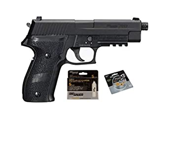 SIG Sauer P320 Air Pistol with CO2 12 Gram (15 Pack) and 500 Lead Pellets  Bundle