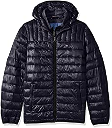 Men Big Ultra Loft Insulated Packable Jacket With Contrast Bib And Hood