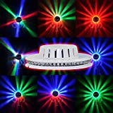 Onepalace Voice-activated 48LEDs RGB Stage Effect Lights Lighting Lamp for Disco DJ Party KTV Wedding Show Club Pub Bar (White with Non Voice-activated)