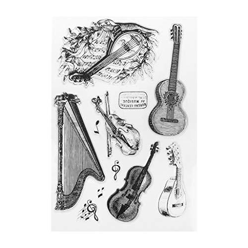 TeemorShop String Music Silicone Clear Stamp Seal Sheet DIY Scrapbook Embossing Album Decor Craft Art
