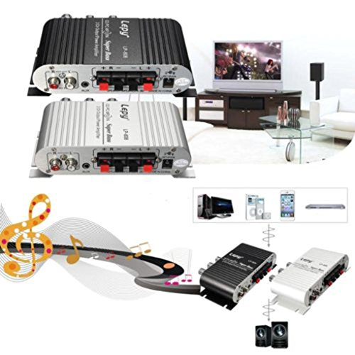 DDLBiz(TM) Mini Hi-Fi Audio Stereo Amplifier 12V 20W X2 RMS Amp For Home Car Silver by DDLBiz (Image #5)'