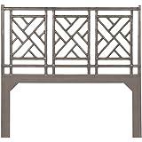 David Francis Furniture Chinese Chippendale Headboard, Twin, Smoke