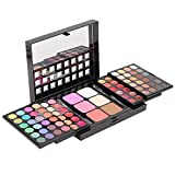 78 Colors Professional Eyeshadow Blusher Lip Gloss Palette Makeup Cosmetic Set with Brushes Mirror