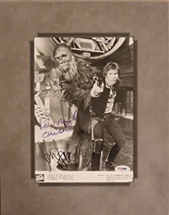 Star Wars Harrison Ford and Peter Mayhew Autographed Matted Photo PSA/DNA