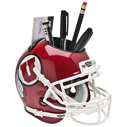 Schutt NCAA Utah Utes Mini Helmet Desk Caddy