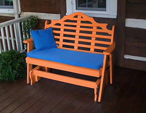 POLYWOOD GLIDER BENCH, 5' Poly Wood Gliders Benches Lutyens Garden Seat, All Weather Poly Wood, Ups the Wow Factor for Porches & Pergolas, Terrace & Decks, Takes Patio Decor to a New Leve