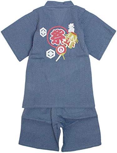 甚平 子供 キッズ 男の子 綿100% 祭り柄 和服 甚兵衛 部屋着 寝まき パジャマ