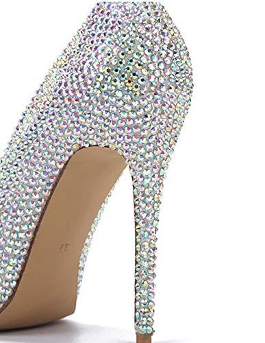 Shoe Scarpe Banchetto Scarpe a Metallo per Colore in d'Onore 36 1 Diamanti con con con store Dimensioni Colorati con Fibbia Diamanti Farfalla Damigella vrOq5v4