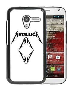 Beautiful Designed Cover Case For Motorola Moto X With Metallica Logo Black Phone Case