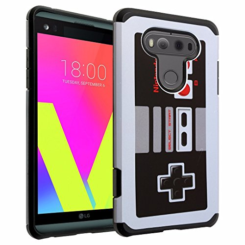 LG V20 Case, DURARMOR LG V20 Armor Case with Resilient Shock Absorption and NES Controller Design Hybrid Case Cover for LG V20 2016, Vintage Nintendo NES Game Controller