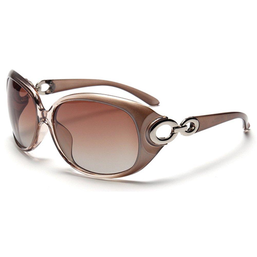 BLDEN Gafas de Sol Mujer Polarizadas Anti-Reflejo 100/% UV Ojos Proteccion Estiloso Ovaladas Gafas Marco Grande