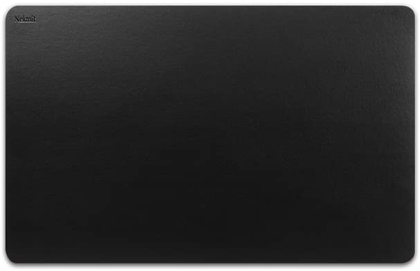 Nekmit Leather Desk Blotter Pad 17 x 12 Inches, Waterproof, Non-Slip, Black