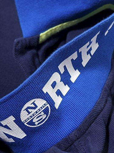 North Sails Niños Camiseta del Polo de Parches Frontal del Lado ...