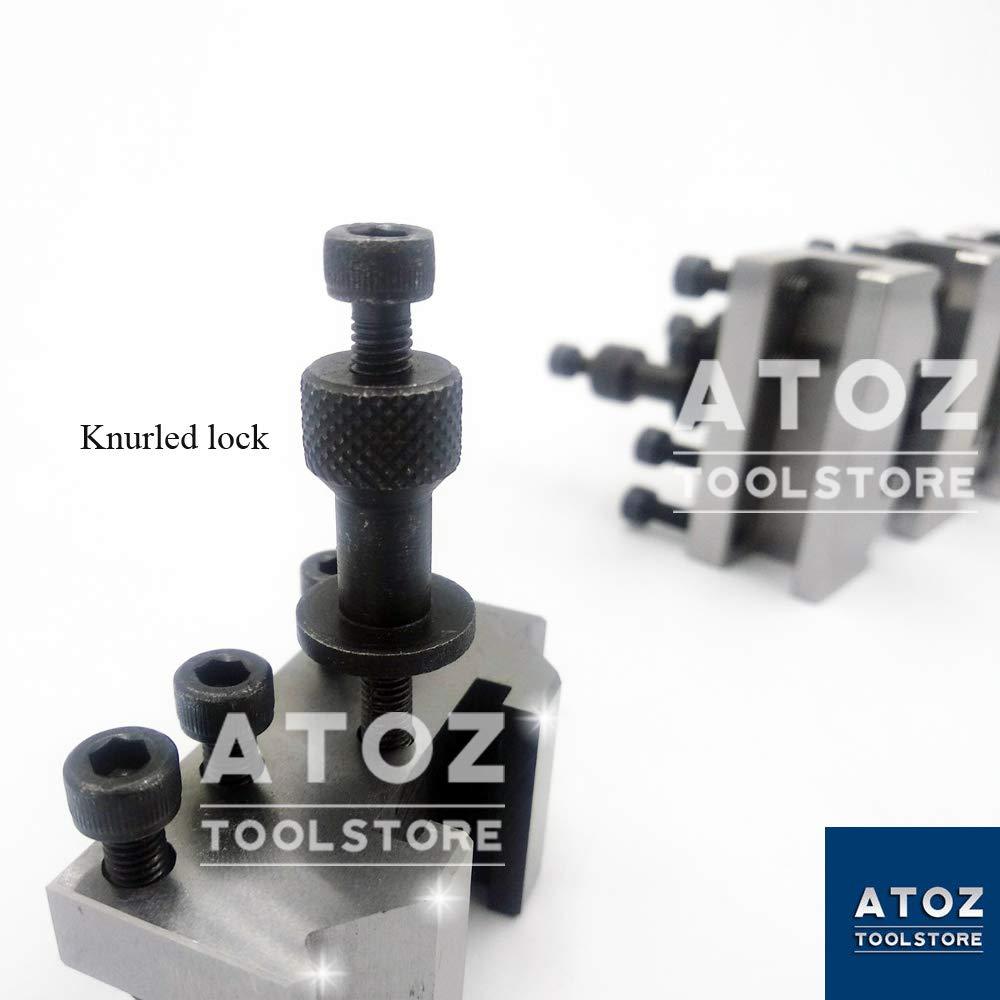 5 Pieces Set T37 Quick Change Toolpost 7//16 Stud Bore Lathe Premium Quality Tool Post ATOZ