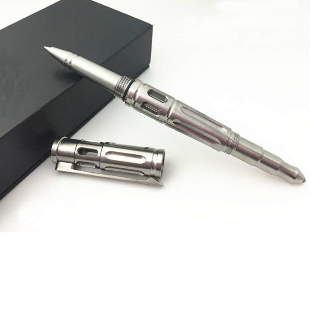 TACRAY TAC1603 Titanium Tactical Pen Bolt Pen Self Defense with Window Breanker(Grey)