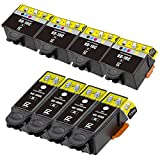 E-Z Ink (TM) Compatible Ink Cartridge Replacement for Kodak 10XL (4 Black, 4 Color) 8237216 8946501 (8) Pack