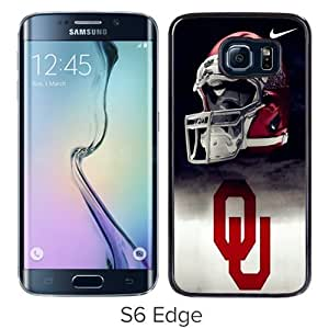 Grace Protactive Oklahoma Sooners 01 Black Case Cover for Samsung Galaxy S6 Edge