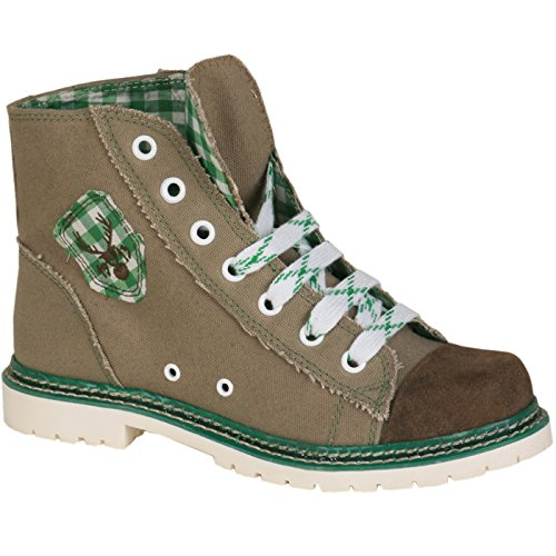 Sneaker Jacky braun/grün rustikal, braun/grün, 39