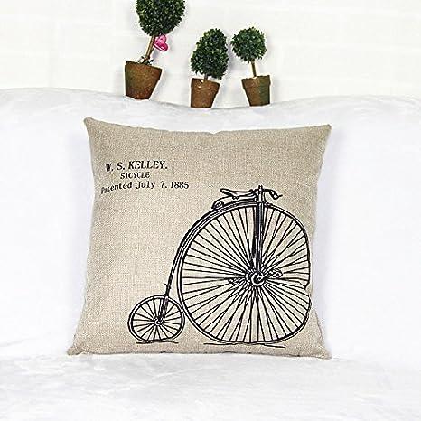 Nordic IKEA simple Funda de cojín bicicleta: Amazon.es: Hogar