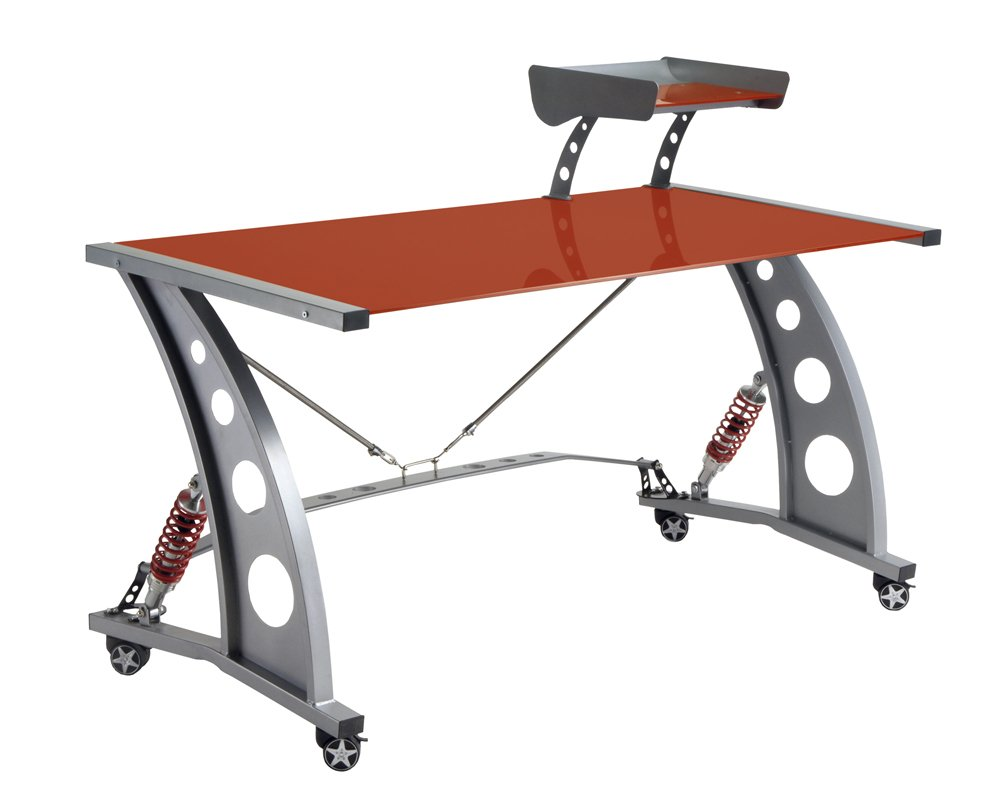 Pitstop Furniture PDF2000R Red GT Spoiler Desk by Pitstop Furniture