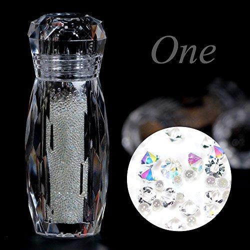 BlueZOO Multi Colors Nail Art Decorations Mini Rhinestones Diamonds Crystals Beads Gems Décor Accessories for DIY Decor #1