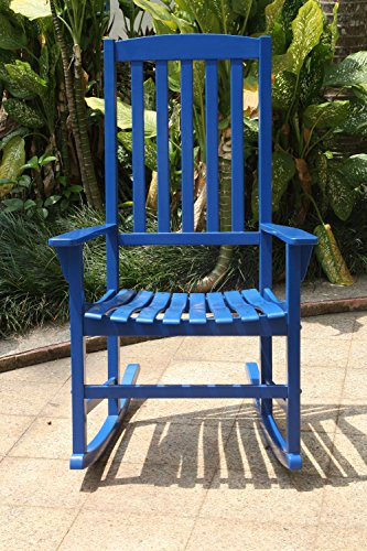 Cambridge-Casual AMZ-130818BLU Bentley Porch Rocker, Blue