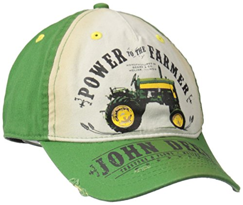 Mens Accessories Vintage Hats - John Deere Logo Vintage Baseball Hat - One-Size - Men's - John Deere Green, One Size