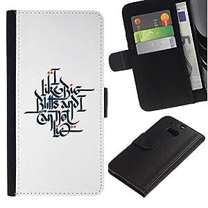 Be Good Phone Accessory // Caso del tirón Billetera de Cuero Titular de la tarjeta Carcasa Funda de Protección para HTC One M8 // get my word