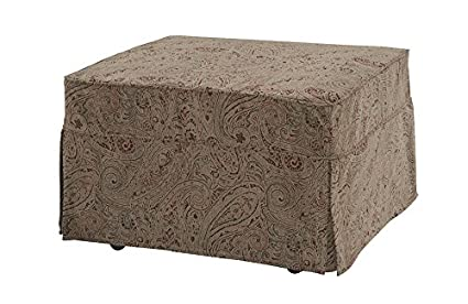 Castro Convertibles™ Twin Size Convertible Ottoman With Paisley Cover