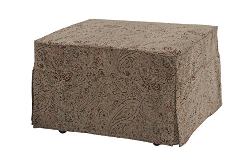 Castro Convertibles™ Twin Size Convertible Ottoman with Paisley - Chair Ottoman Sleeper