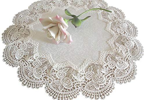 Galleria di Giovanni Doily Royal Rose European Lace Antique White Topper Dresser Scarf 16
