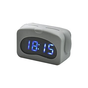 HzxlT Reloj de Alarma de Control de Sonido electrónico de Silicona de Dibujos Animados Lindo Reloj