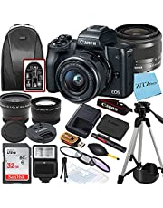 Canon EOS M50 Mirrorless Vlogging Digital Camera with EF-M 15-45mm is STM Zoom Lens + SanDisk 32GB Memory Card + Tripod + Case + Wideangle Lenses + ZeeTech Accessory Bundle (20pc Bundle) photo