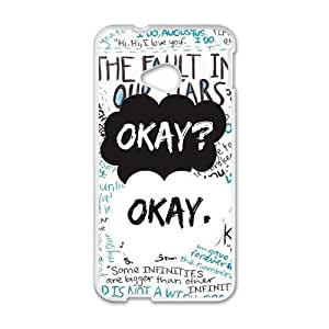 Happy okay? okay. Phone Case for HTC One M7