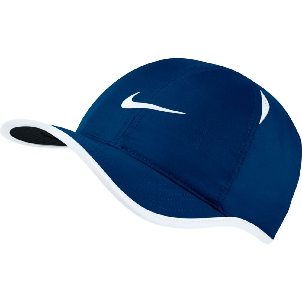 Nike Feather Light Tennis Hat (Blue Jay/White/Black/White, One Size) by Nike (Image #1)
