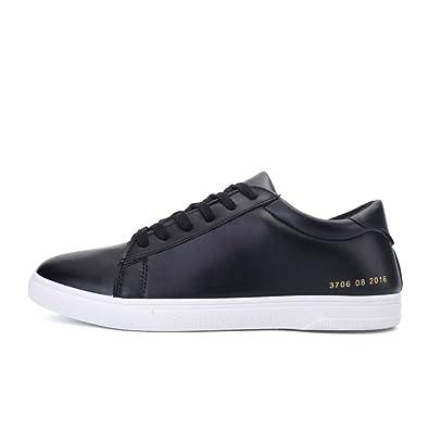 Zapatos ocasionales de verano/Calzado poco transpirable/Hombre de tomó la versión coreana de zapatos de los hombres/ redondo corriente de Zapatitos Blancos-A Longitud del pie=25.8CM(10.2Inch) Lom0Sb