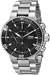 Oris Men's 77476554154MB Aquis Analog Display Swiss Automatic Silver Watch