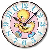 Cheap Item C9013 Vintage Style 10.5 Inch Duckling Baby Nursery Clock