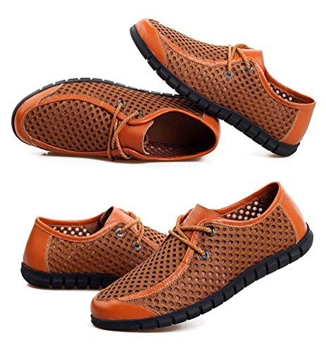 YiLianDa Zapatos Casuales Verano Transpirable Slip-on de Hombres Amarillo 41 xbkRqh9g