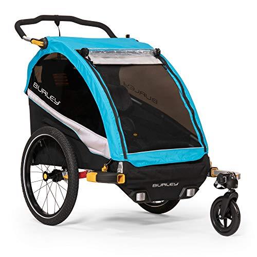 Burley D'Lite X, 2 Seat Kids Bike Trailer & Stroller (Bicycle Trailer Stroller Kit)