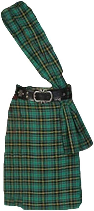 hibote Hombres Escocés Tradicional Kilt Celosía Plisado Faldas ...