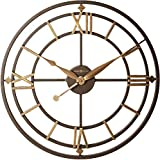 Howard Miller York Station Wall Clock 625-299 - Modern & Round with Quartz Movement