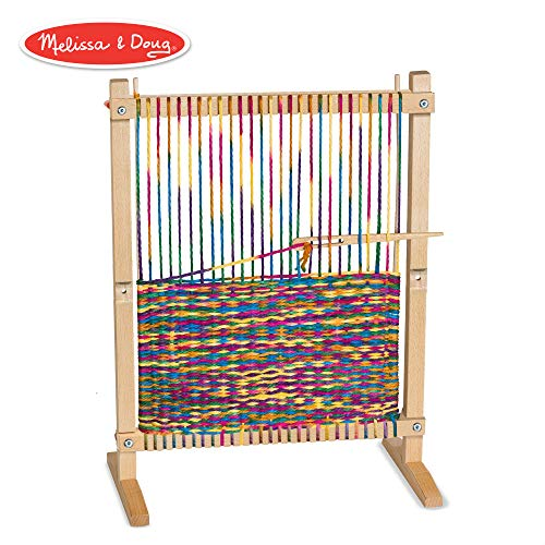 (Melissa & Doug Wooden Multi-Craft Weaving Loom (Arts & Crafts, Extra-Large Frame, Develops Creativity and Motor Skills, 16.5