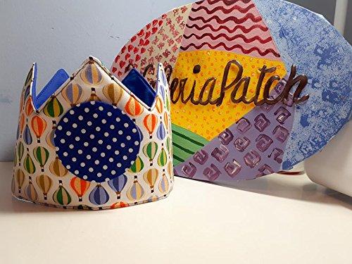 Corona cumpleaños Tela Globos: Amazon.es: Handmade