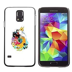 Be Good Phone Accessory // Dura Cáscara cubierta Protectora Caso Carcasa Funda de Protección para Samsung Galaxy S5 SM-G900 // King Penguin Princess Cartoon Art Character