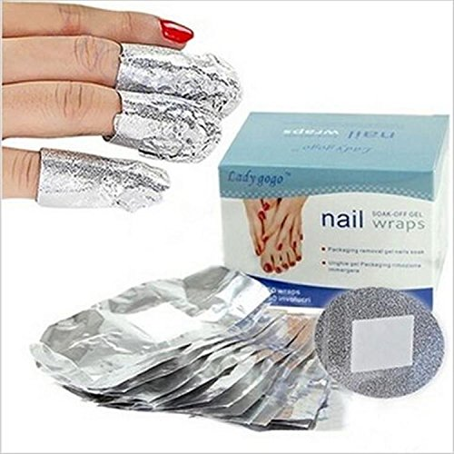 50pcs Lady Nail Tinfoil Wraps Soak Off Gel Nail Polish Remov