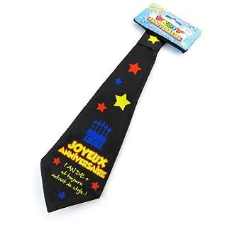 Tie compleanno 'Joyeux Anniversaire'.