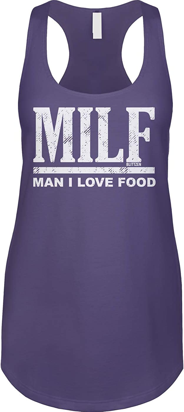 Milf - Man I Love Food Ladies Tank